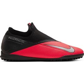 Buty piłkarskie Nike Phantom Vsn 2 Academy Df Tf CD4172 606 czerwone czerwone