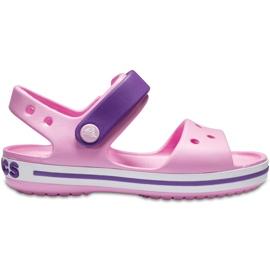 Crocs sandały dla dzieci Crocband Sandal Kids jasnoróżowo-fioletowe 12856 6AI różowe