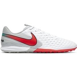 Buty piłkarskie Nike Tiempo Legend 8 Academy Tf AT6100 163 białe białe