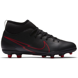 Buty piłkarskie Nike Mercurial Superfly 7 Club FG/MG Junior AT8150 060 czarne czarne