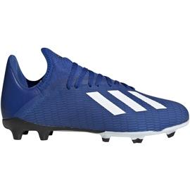 Buty piłkarskie adidas X 19.3 Fg Junior EG7152 niebieskie niebieskie