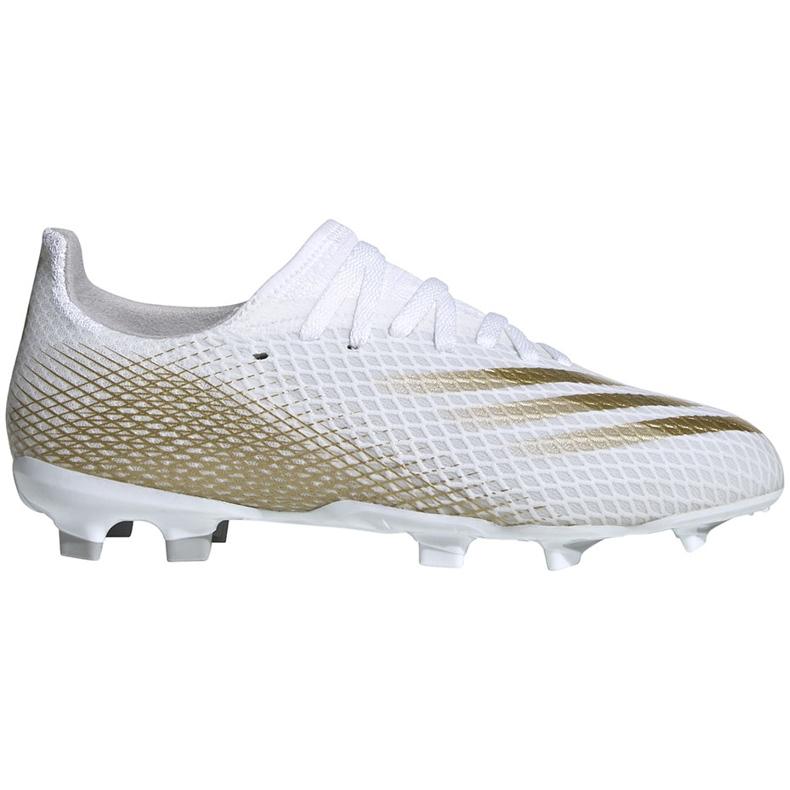 Buty piłkarskie adidas X GHOSTED.3 Fg Junior EG8210 białe białe