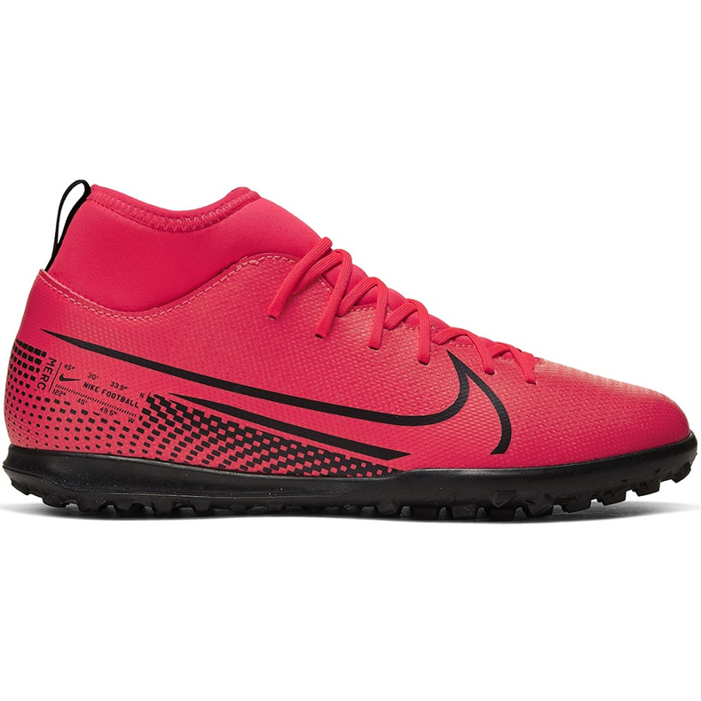 Buty piłkarskie Nike Mercurial Superfly 7 Club Tf Junior AT8156 606 czerwone czerwone