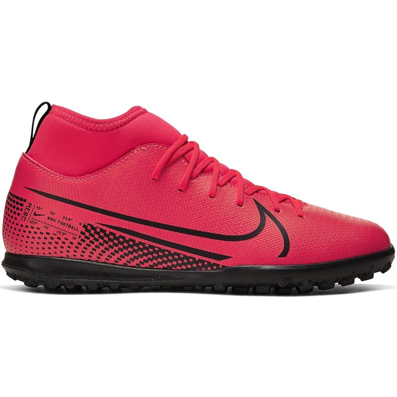 Buty piłkarskie Nike Mercurial Superfly 7 Club Tf Junior AT8156 606 czerwone czerwone