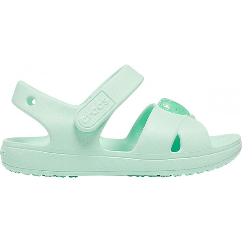 Crocs sandały dla dzieci Classic Cross Strap Sandal Ps neo miętowe 206245 3TI zielone