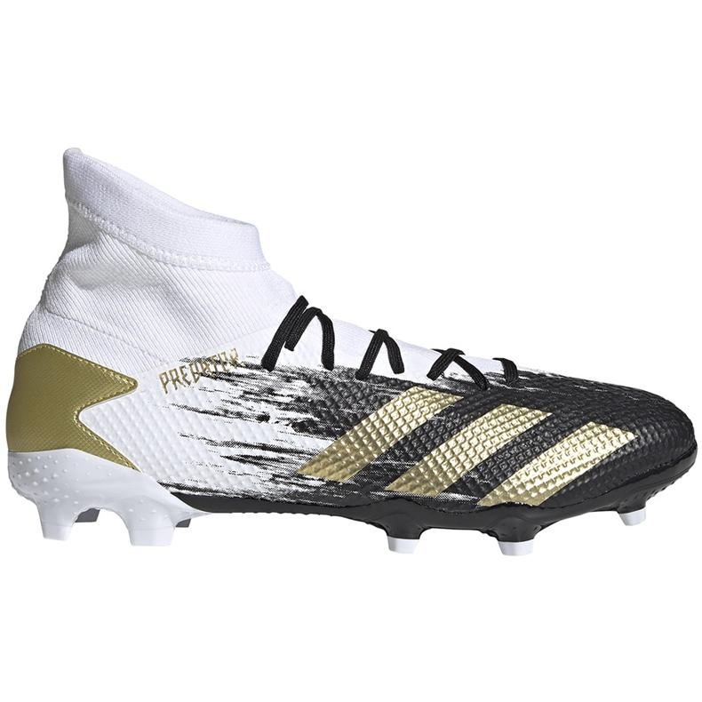 Buty piłkarskie adidas Predator 20.3 Fg FW9196 białe