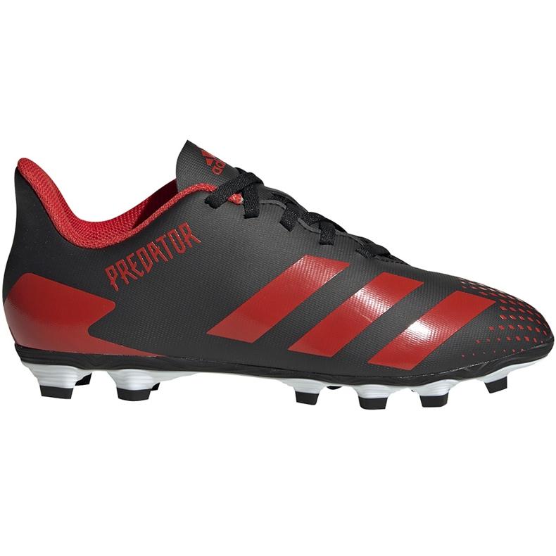 Buty piłkarskie adidas Predator 20.4 FxG Jr EF1931 czarne wielokolorowe