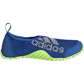 Buty do wody dla dzieci adidas Kurobe K niebiesko-limonkowe EF2239 niebieskie niebieskie