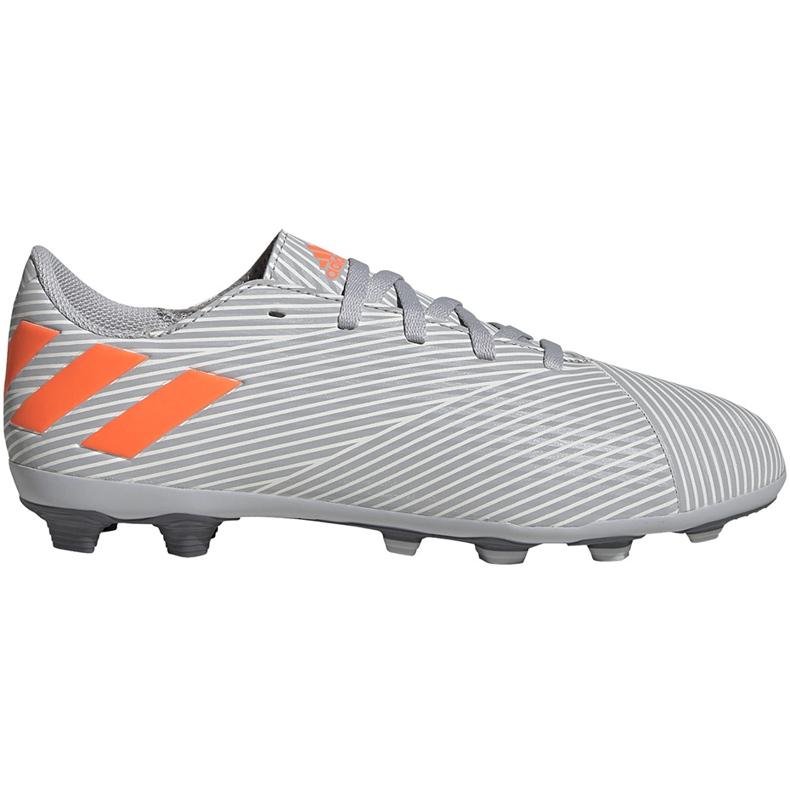 Buty piłkarskie adidas Nemeziz 19.4 FxG Jr szare EF8305 wielokolorowe