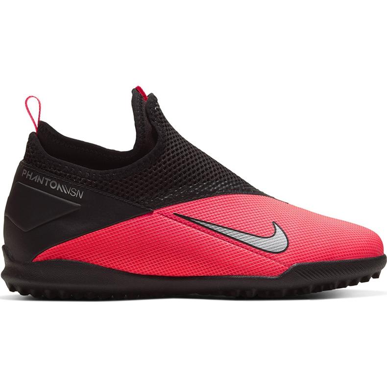 Buty piłkarskie Nike Phantom Vsn 2 Academy Df Tf Junior CD4078 606 czerwone czerwone