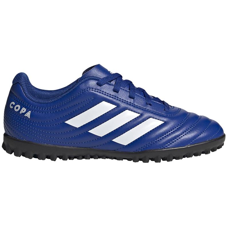 Buty piłkarskie adidas Copa 20.4 Tf EH0931 niebieskie niebieskie