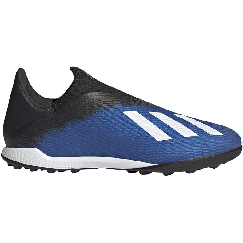 Buty piłkarskie adidas X 19.3 Ll Tf EG7176 niebieskie niebieskie