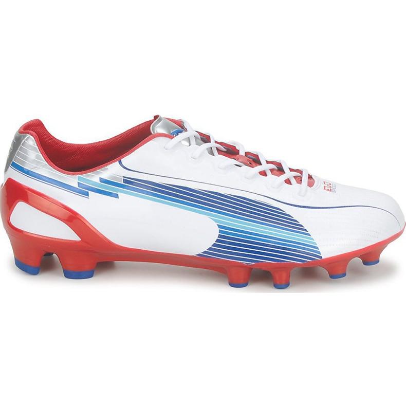 Buty piłkarskie Puma Evo Speed 1 Fg biało-czerwono-niebieskie 102527 01 białe białe