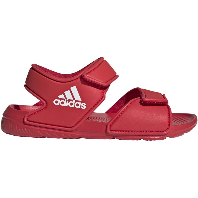 Sandały dla dzieci adidas Altaswim C czerwone EG2136