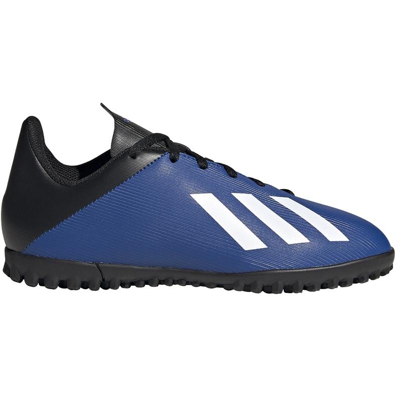 Buty piłkarskie adidas X 19.4 Tf Jr FV4662 niebieskie niebieskie