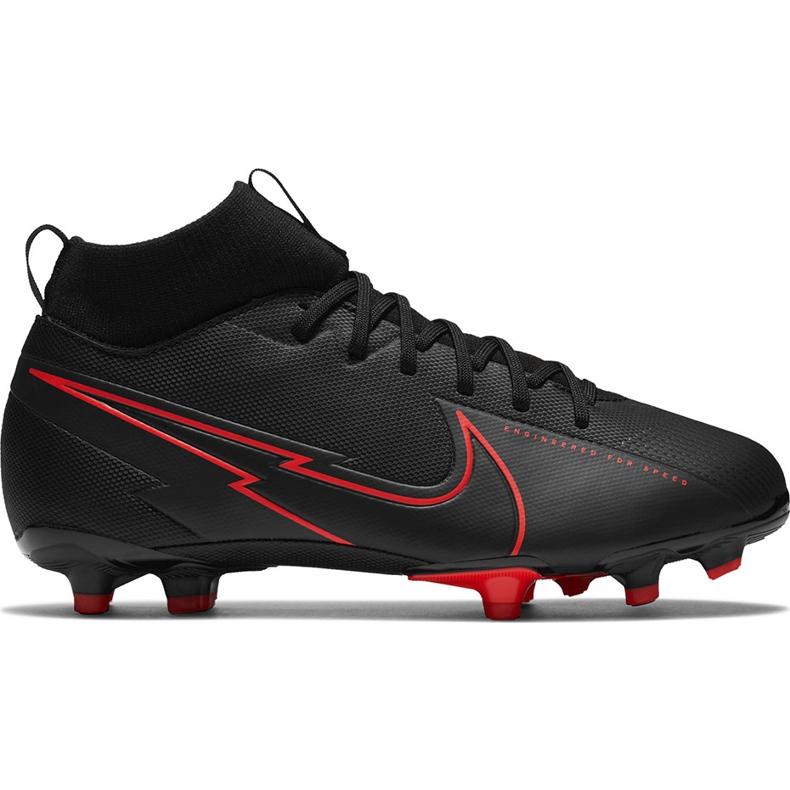 Buty piłkarskie Nike Mercurial Superfly 7 Academy FG/MG Junior AT8120 060 czarne czarne