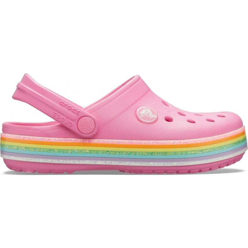 Crocs dla dzieci Crocband Rainbow Glitter Clg K różowe 206151 669