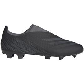 Buty piłkarskie adidas X GHOSTED.3 Ll Fg FW3541 czarne czarne