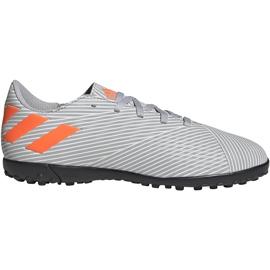Buty piłkarskie adidas Nemeziz 19.4 Tf Jr szare EF8306 wielokolorowe