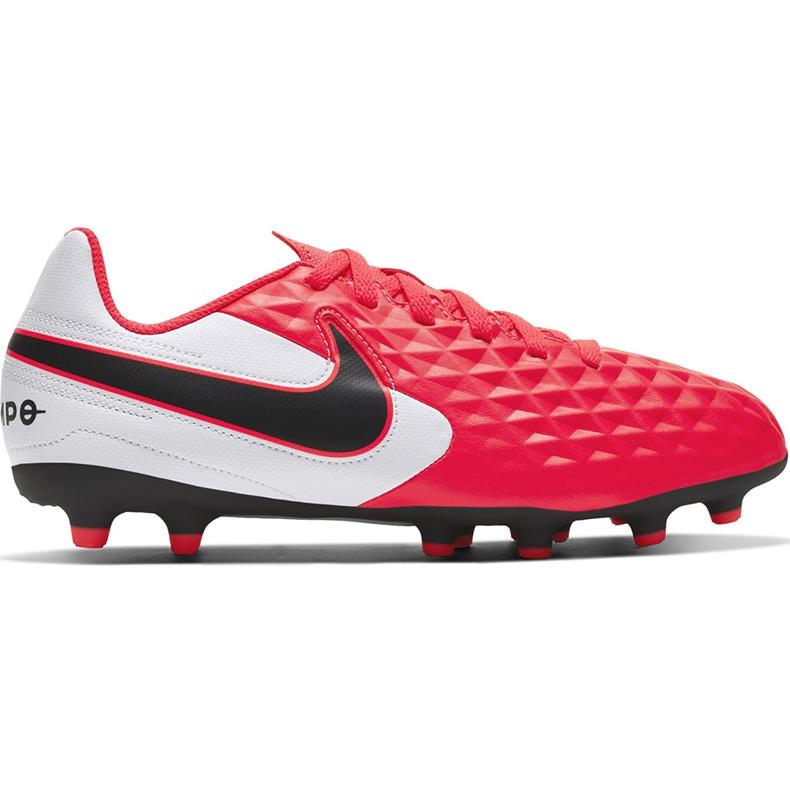 Buty piłkarskie Nike Tiempo Legend 8 Club FG/MG Junior AT5881 606 czerwone czerwone