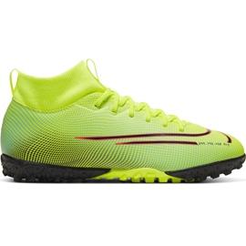 Buty piłkarskie Nike Mercurial Superfly 7 Academy Mds Tf Junior BQ5407 703 żółte wielokolorowe