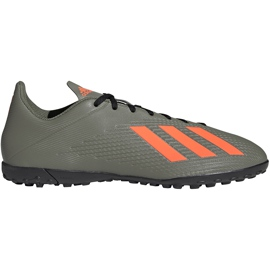 Buty piłkarskie adidas X 19.4 Tf zielone EF8370 szare