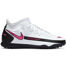 Buty piłkarskie Nike Phantom Gt Club Df Tf Junior CW6729 160 białe białe