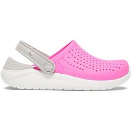 Crocs dla dzieci LiteRide Clog Kids różowo-białe 205964 6QR różowe