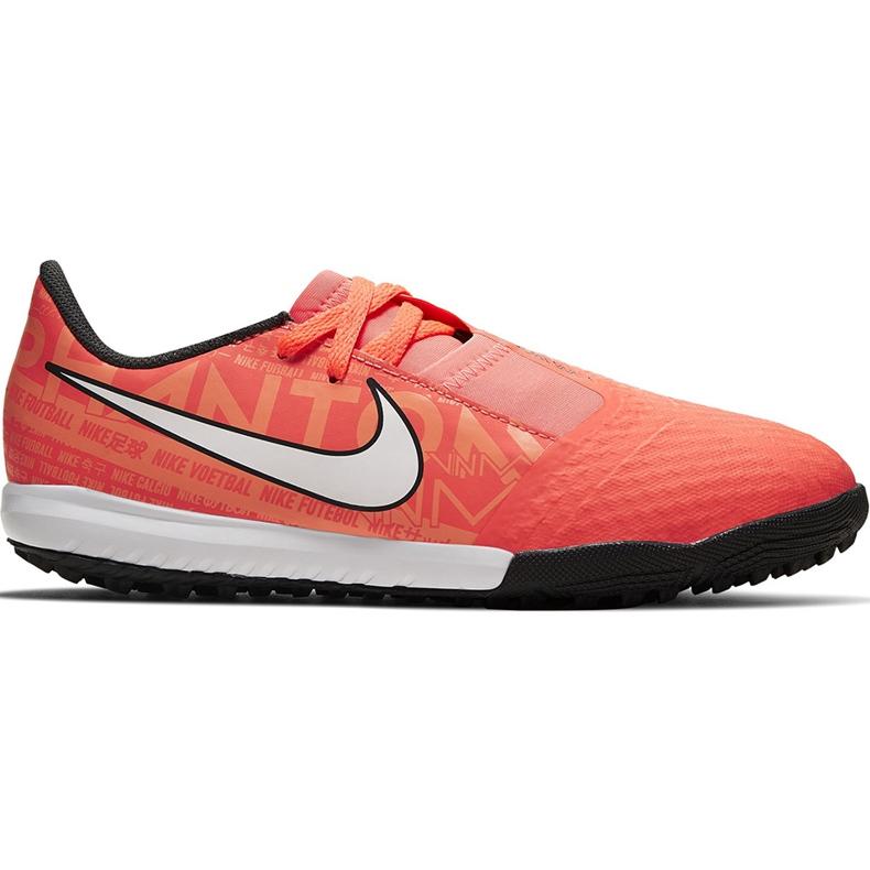 Buty piłkarskie Nike Phantom Venom Academy Tf Junior AO0377 810 pomarańczowe pomarańczowe
