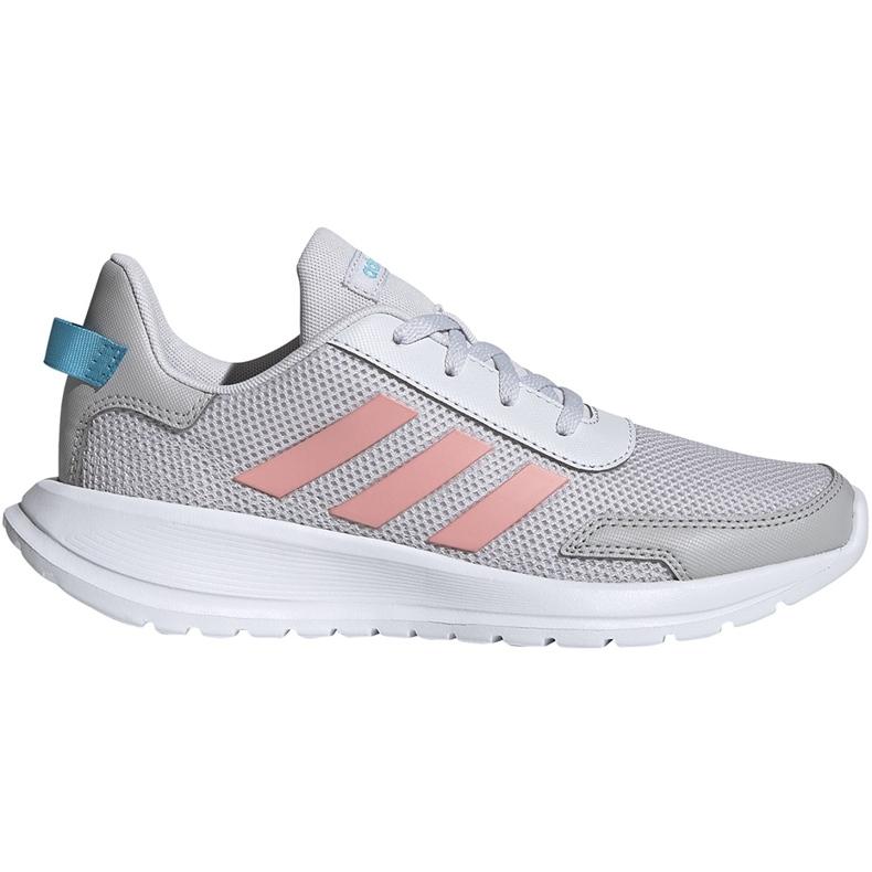 Buty dla dzieci adidas Tensaur Run K szaro-różowe EG4132