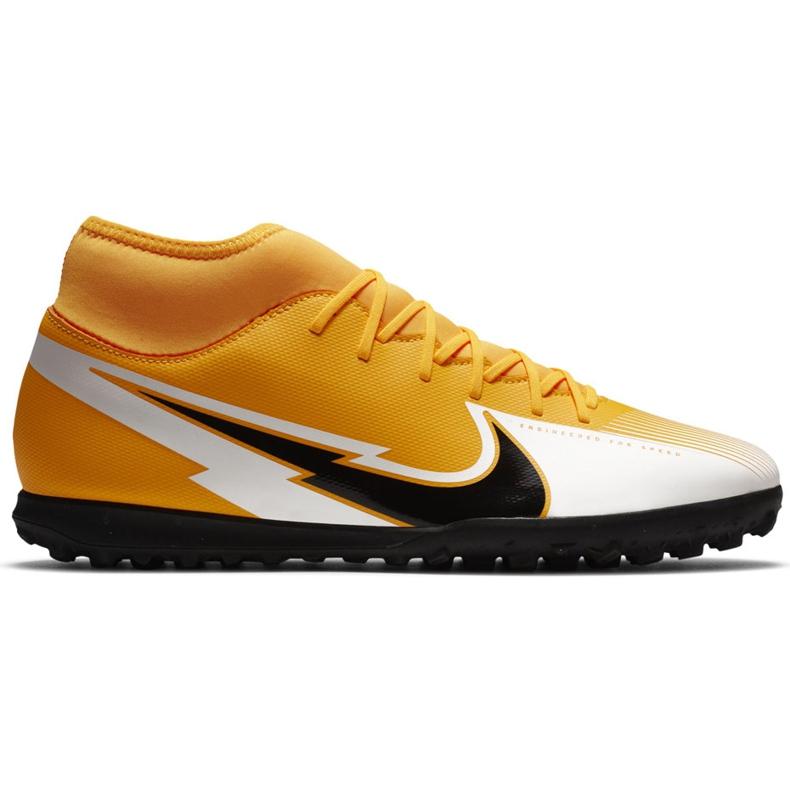 Buty piłkarskie Nike Mercurial Superfly 7 Club Tf AT7980 801 pomarańczowe żółte