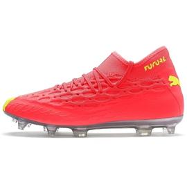 Buty piłkarskie Puma Future 5.2 Netfit Osg Evo Fg Ag 106007 01 żółte czerwone