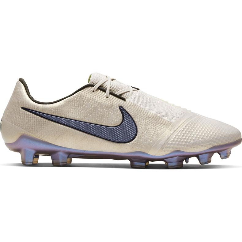 Buty piłkarskie Nike Phantom Venom Elite Fg AO7540 005 białe beżowy