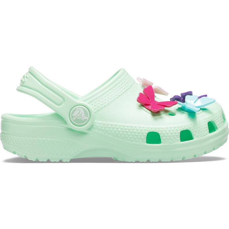 Crocs dla dzieci Classic Butterfly Charm Clg Ps zielone 206179 3TI