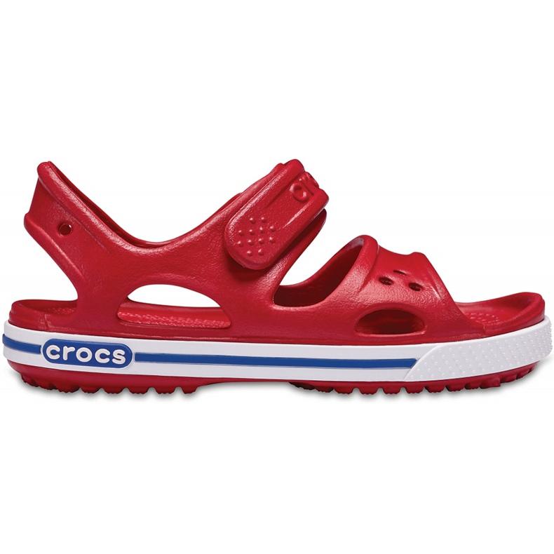 Crocs sandały dla dzieci Crocband Ii Sandal Ps Kids czerwono-niebieskie 14854 6OE czerwone
