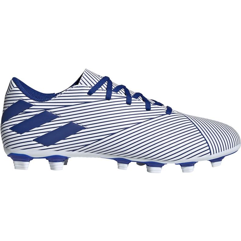 Buty piłkarskie adidas Nemeziz 19.4 FxG biało-niebieskie EF1707 wielokolorowe