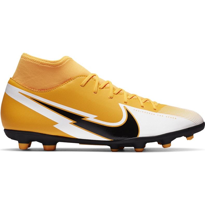 Buty piłkarskie Nike Mercurial Superfly 7 Club FG/MG AT7949 801 pomarańczowe żółte