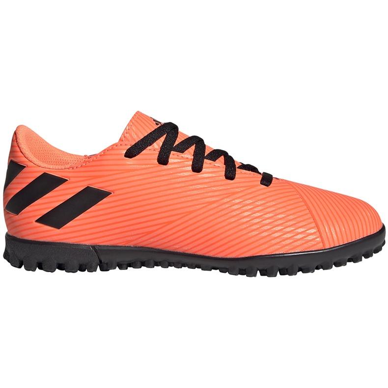 Buty piłkarskie adidas Nemeziz 19.4 Tf Jr pomarańczowe EH0503