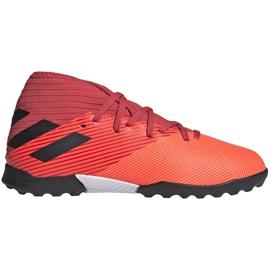 Buty piłkarskie adidas Nemeziz 19.3 Tf Jr EH0499 pomarańczowe pomarańczowe