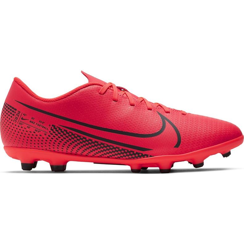 Buty piłkarskie Nike Mercurial Vapor 13 Club FG/MG AT7968 606 czerwone wielokolorowe