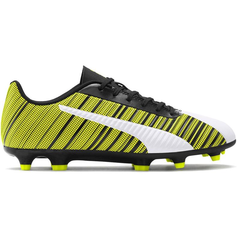 Buty piłkarskie Puma One 5.4 Fg Ag żółto-biało-czarne 105605 03 żółte żółte