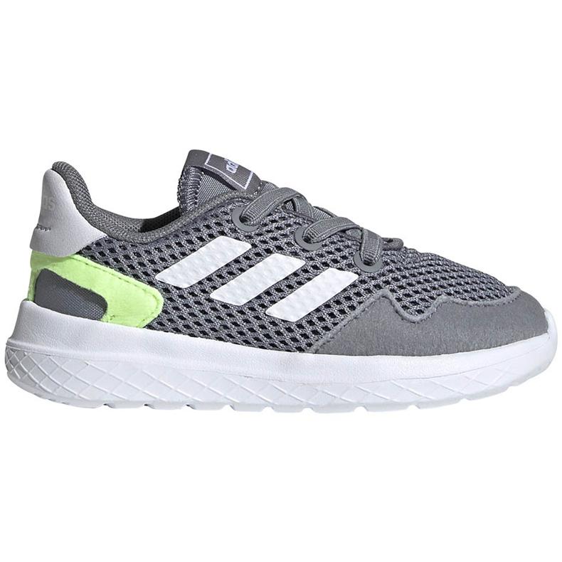 Buty dla dzieci adidas Archivo K szare EG3978 białe zielone