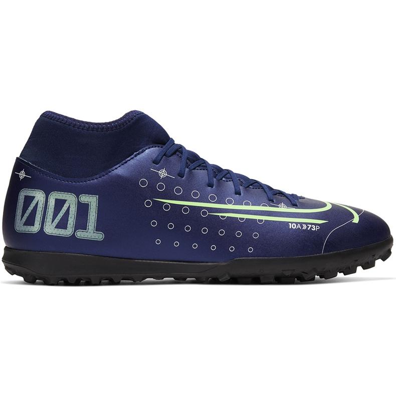 Buty piłkarskie Nike Mercurial Superfly 7 Club Mds Tf BQ5437 401 granatowe granatowe