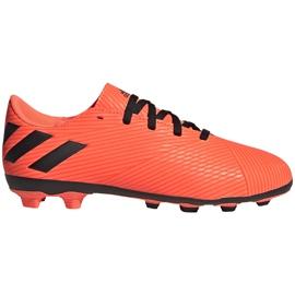 Buty piłkarskie adidas Nemeziz 19.4 FxG Jr pomarańczowe EH0507 pomarańczowy,czarny