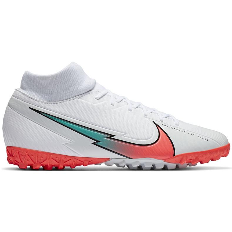 Buty piłkarskie Nike Mercurial Superfly 7 Academy Tf AT7978 163 białe białe