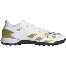 Buty piłkarskie adidas Predator 20.3 L Tf FW9189 białe biały, złoty, czarny