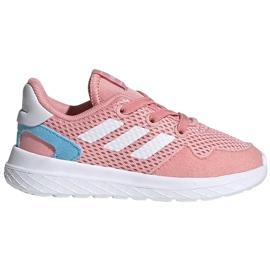Buty dla dzieci adidas Archivo K różowe EG3980 białe niebieskie