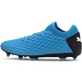 Buty piłkarskie Puma Future 5.4 Fg Ag 105785 01 niebieskie niebieski,czarny