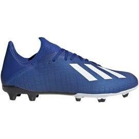 Buty piłkarskie adidas X 19.3 Fg niebieskie EG7130 niebieski,biały