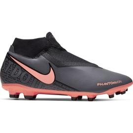 Buty piłkarskie Nike Phantom Vsn Academy Df FG/MG AO3258 080 szary, różowy szare